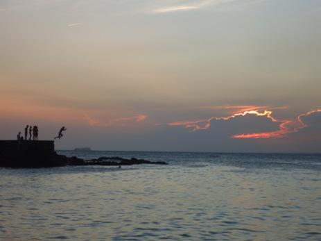 Coucher de soleil à Barra
