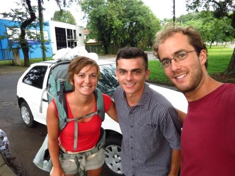 Auto-stop avec Pablo dans le Paraná