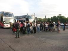 Les bus sont arrêtés