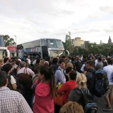 La foule s'est intensifiée
