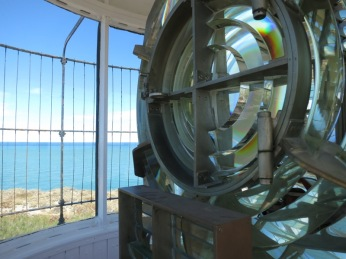 En haut du phare de Punta Delgada