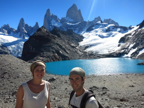 Caroline et Grégory devant la Laguna de Los Tres