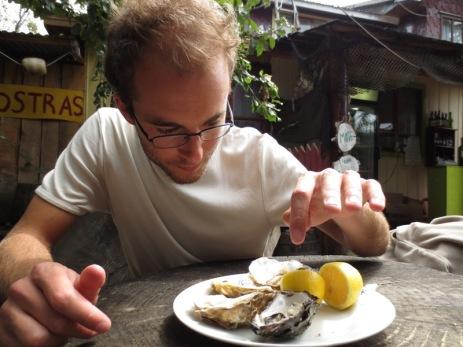 Dégustation d'huîtres à Curaco de Velez