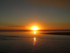 Coucher de soleil sur l'océan Pacifique