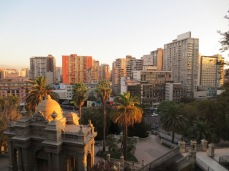 Vue de Santa Lucia - Santiago