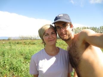 Caro et Greg dans le champ