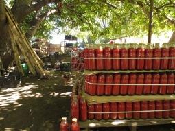 Bouteilles de sauce tomate