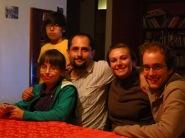 Emiliano, Amanda, Rodrigo, Caroline et Grégory
