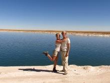 Caroline et Grégory devant la Laguna Cejar