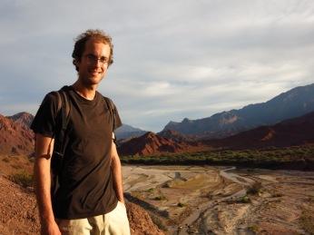 Grégory dans la Quebrada de las Conchas