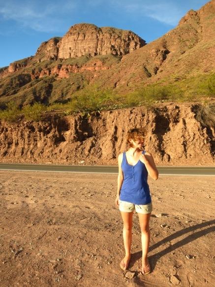 Caroline dans la Quebrada de las Conchas