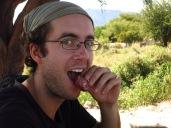 Degustation d'un saucisson de lama