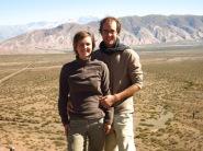 Caroline et Grégory près de Cachi