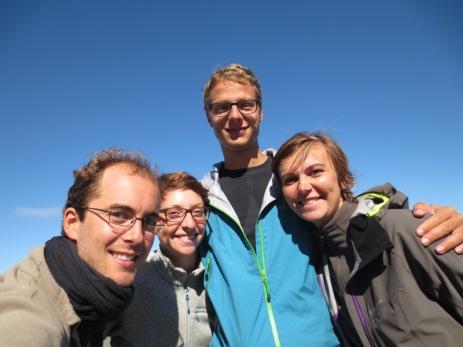 Grégory, Britta, Gernot et Caroline sur la carretera australe