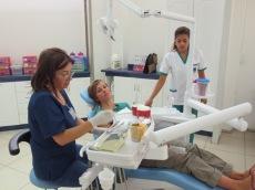 Margot, dentiste et également notre hôte en Couchsurfing à Rancagua. Caroline n'a pas pu y échapper