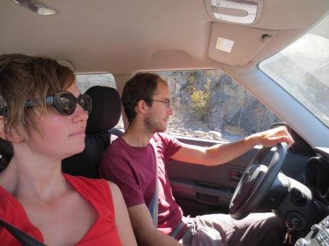 Caroline et Grégory sur la route des vins de Santa Cruz