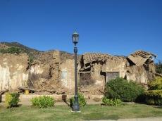 Village de Lolol partiellement détruit pendant le tremblement de terre de 2010