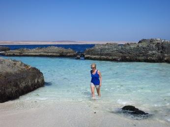 Caroline à Bahia Inglesa