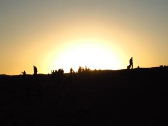 coucher de soleil dans la Valle de la Luna