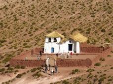 Eglise de Machuca dans le désert d'Atacama