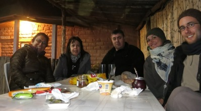 Dinah, Silviana, Jorge, Caroline et Grégory