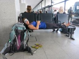 En attendant le bus à Rosario