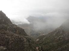 Vue sur Chanaca du chemin de l'Inca