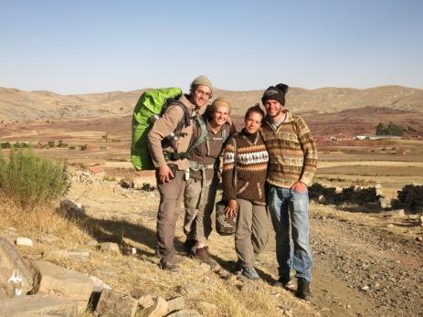De gauche à droite : Grégory, Caroline, Houda et Victor
