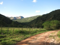 Chemin vers la lagune de Bermejo