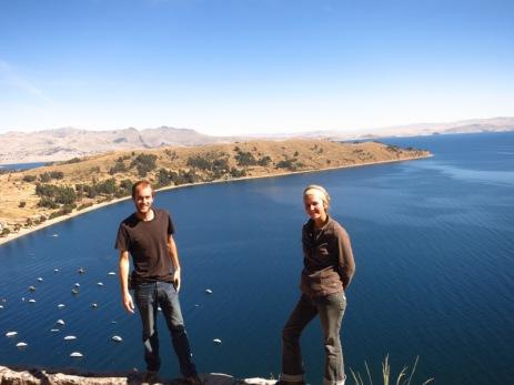 Vue d'El Calvairo, Copacabana, Lac Titicaca