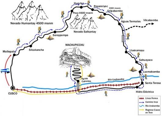 Carte du Salcantay trek