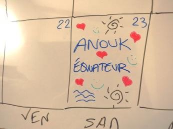 Anouk nous retrouve le 23 août en Equateur!