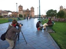 Tournage avec Carlos Raul