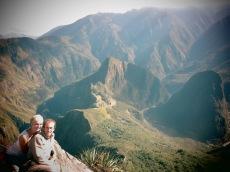 Caroline et Grégory face au Machu Picchu