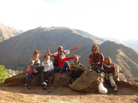 Avec Aline, Clémence, Samuel, et nos deux amis turcs à Calca