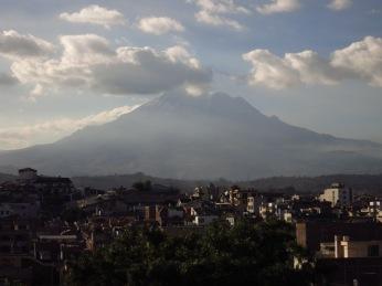 Chimborazo, vue de Riobamba