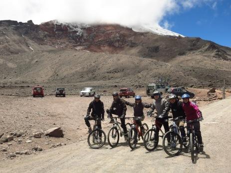 Début de la descente à vélo du Chimborazo