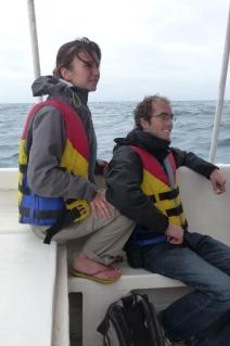 Caro et greg sur le bateau