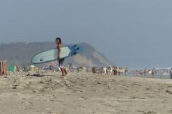 Surfeur à Canoa