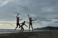 Sur la plage de Canoa