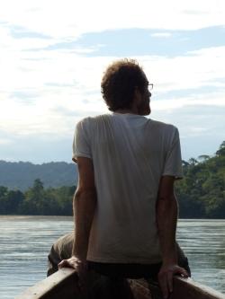 Grégory sur le Rio Napo