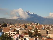Tungurahua vu de Riobamba