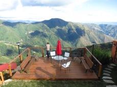 Vue des terrasses chez Raul et Cesarina à Colonia Tovar