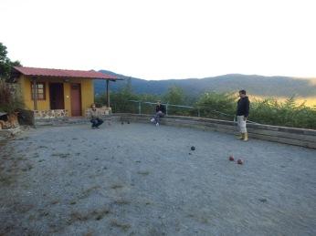 Jeu de boules avec Raul et Cesarina à Colonia Tovar