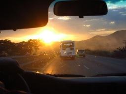 En route pour Valencia dans le 4X4 de Raul et Cesarina