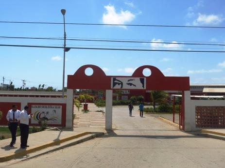 """Les yeux du """"Commandante"""" devant le terminal de bus de Tucacas"""