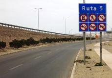 Sur la route n°5 au Chili
